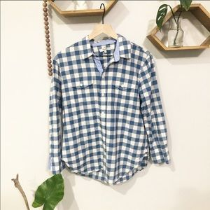 MADEWELL Blue Buffalo Plaid Shirt